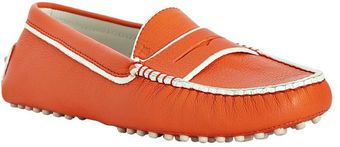 Tod's Tangerine Leather Country Club Driving Moccasins - Lyst