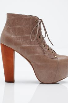 Jeffrey Campbell Lita in Croc - Lyst
