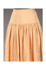 Valentino Vintage Vintage Linen Skirt in Orange - Lyst
