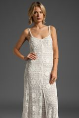 Free People Embroidered Netting Maxi Slip - Lyst