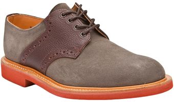 Bass Weejuns Suede Saddle Shoes - Lyst