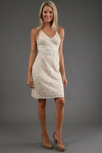 Sue Wong Embroidered Short Dress - Lyst