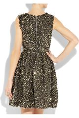 Adam Foldedsequin Silkorganza Dress in Black - Lyst