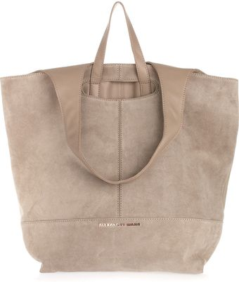 Alexander Wang Alpha Leather and Suede Shopper - Lyst