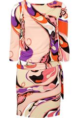 Emilio Pucci Printed Satin-jersey Dress - Lyst