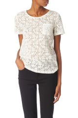Marc By Marc Jacobs Rhiannon Lace Top - Lyst