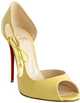 Christian Louboutin Mimosa Patent Leather Delico 100 Dorsay Pumps - Lyst