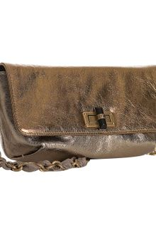 Lanvin Gold Metallic Leather Pop Shoulder Bag - Lyst