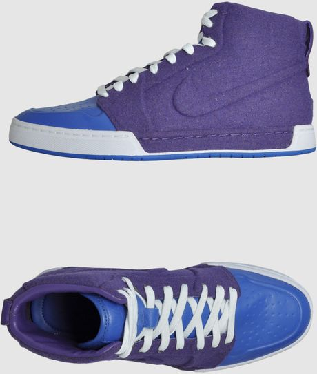Nike Hightop Sneaker in Blue for Men (grey) - Lyst