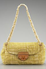 Prada Tela Tweed Medium Shoulder Bag - Lyst