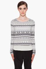 Rag & Bone Suffolk Crop Sweater - Lyst
