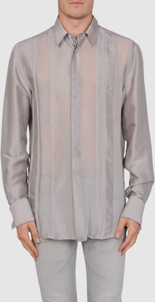 Versace Long Sleeve Shirt in Gray for Men (grey) - Lyst