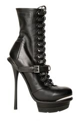Alexander McQueen 145mm Lace Up Leather Boots - Lyst