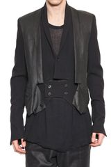 Ann Demeulemeester Lambskin and Wool Canvas Jacket - Lyst
