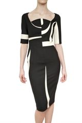Antonio Berardi Bicolor Double Wool Dress - Lyst