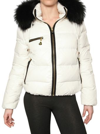 Beayukmui Racoon Fur Trim Down Jacket - Lyst