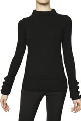 Burberry Prorsum Crew Neck Wool Cashmere Knit Sweater - Lyst