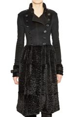 Burberry Prorsum Rabbit Fur Military Coat - Lyst