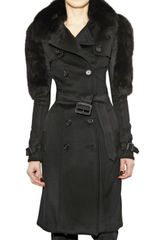 Burberry Prorsum Wool and Cashmere Trench Coat - Lyst