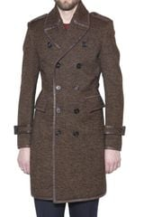 Burberry Prorsum Textured Herringbone Wool Coat - Lyst
