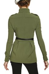 Burberry Prorsum Bonded Technical Stitch Duffle Coat in Green - Lyst