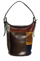Chloé Gabby Patchwork Python Shoulder Bag - Lyst