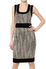 D&G Tweed and Stretch Wool Cloth Dress - Lyst