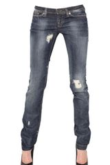 D&G Destroyed Stretch Denim Wonder Jeans - Lyst