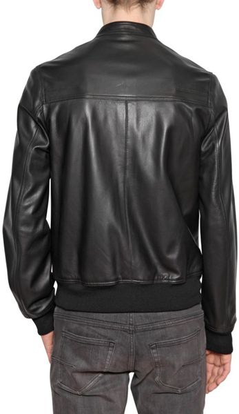 Dior Homme Lambskin Nappa Leather Jacket In Black For Men