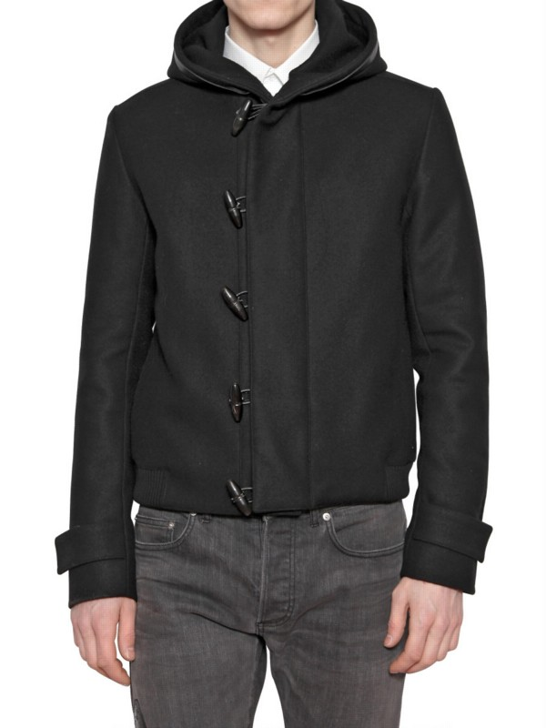 Dior Homme Wool Cloth Hooded Sport Jacket In Black For Men