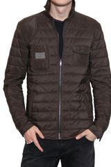 Dolce & Gabbana Matt Nylon Quilted Lightweight Jacket - Lyst