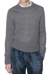 Dolce & Gabbana Wool Knitted Crew Neck Sweater - Lyst
