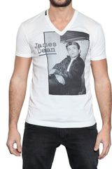 Dolce & Gabbana James Dean V-neck Jersey T-shirt - Lyst