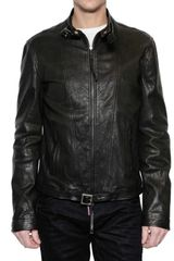 DSquared2 Calfskin Leather Jacket - Lyst