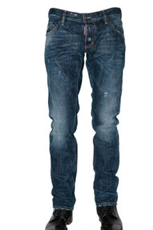 DSquared2 19cm Slim Fit Distressed Denim Jeans - Lyst