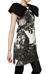 Giambattista Valli Printed Wool Crepe Dress in White - Lyst
