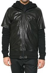 Givenchy Nappa and Fleece Sport Jacket - Lyst