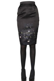 Givenchy Panther Print Border Duchesse Skirt - Lyst