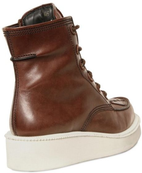 Givenchy Calfskin Platform Low Boots In Brown For Men Lyst