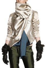 Haider Ackermann Silk Satin Sleeved Silk Shantung Jacket - Lyst