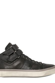 Jimmy Choo Snake Embossed Calf and Suede Sneakers - Lyst