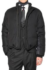 Lanvin Striped Wool and Nylon Sport Jacket - Lyst