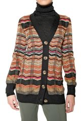 M Missoni Lurex Knit Cardigan Sweater - Lyst