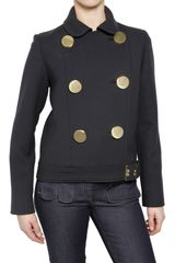 Mulberry Double Breasted Wool Blend Jacket - Lyst