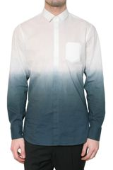 Neil Barrett Degrade Cotton Batista Shirt - Lyst