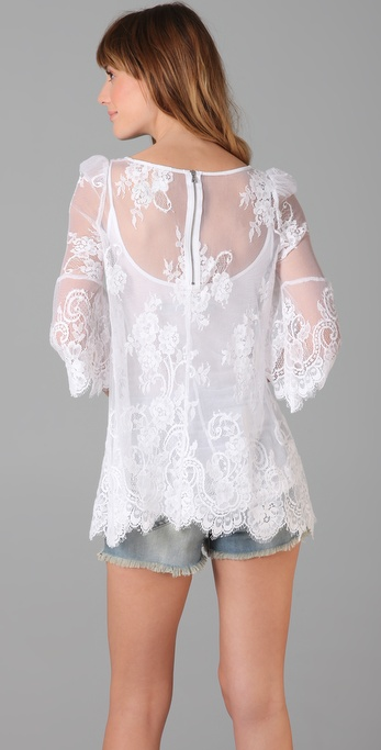 Pencey Lace Tunic in White Lyst