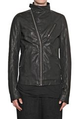 Rick Owens Vegetable Lamb Biker Leather Jacket - Lyst