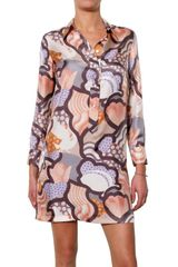 See By Chloé Printed Silk Twill Dress - Lyst