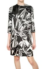 Stella McCartney Printed Silk Satin Dress - Lyst