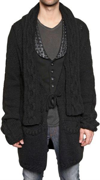 Black Belted Cardigan Sweater